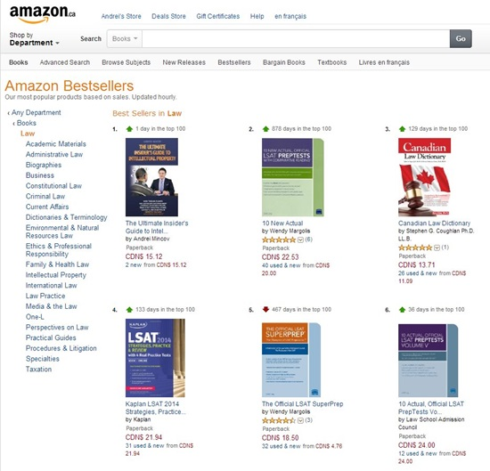 The Ultimate Insider's Guide to Intellectual Property is #1 Amazon Best-Seller in Law