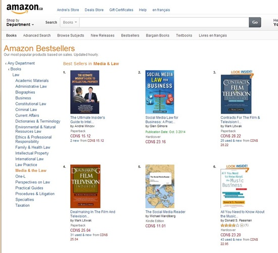 The Ultimate Insider's Guide to Intellectual Property is #1 Amazon Best-Seller in Media & Law